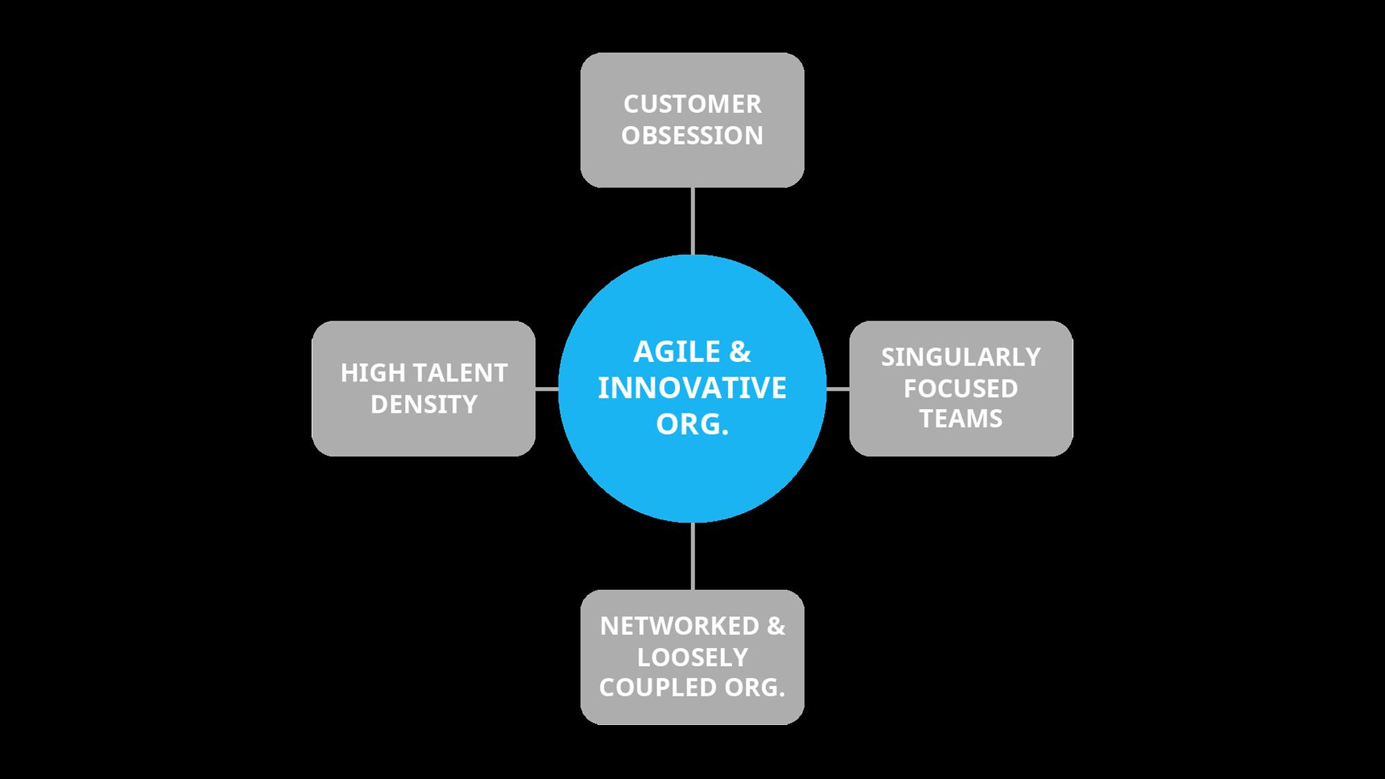 Key principles of an agile and innovative organization
