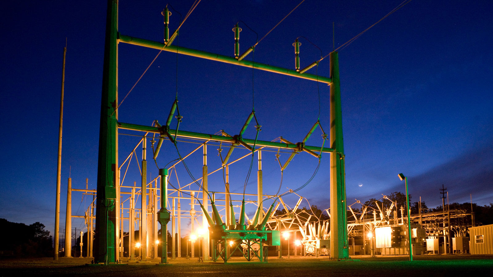 Power stations were needed for electric lighting