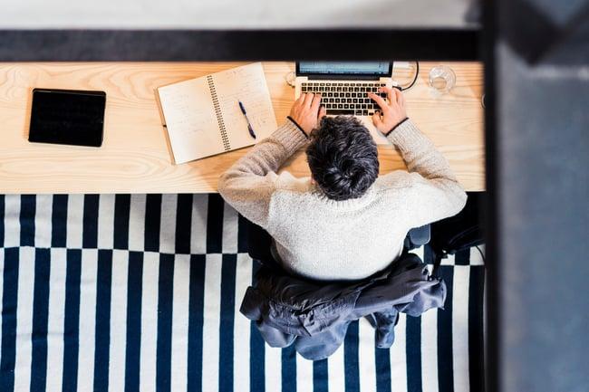intrapreneur at desk