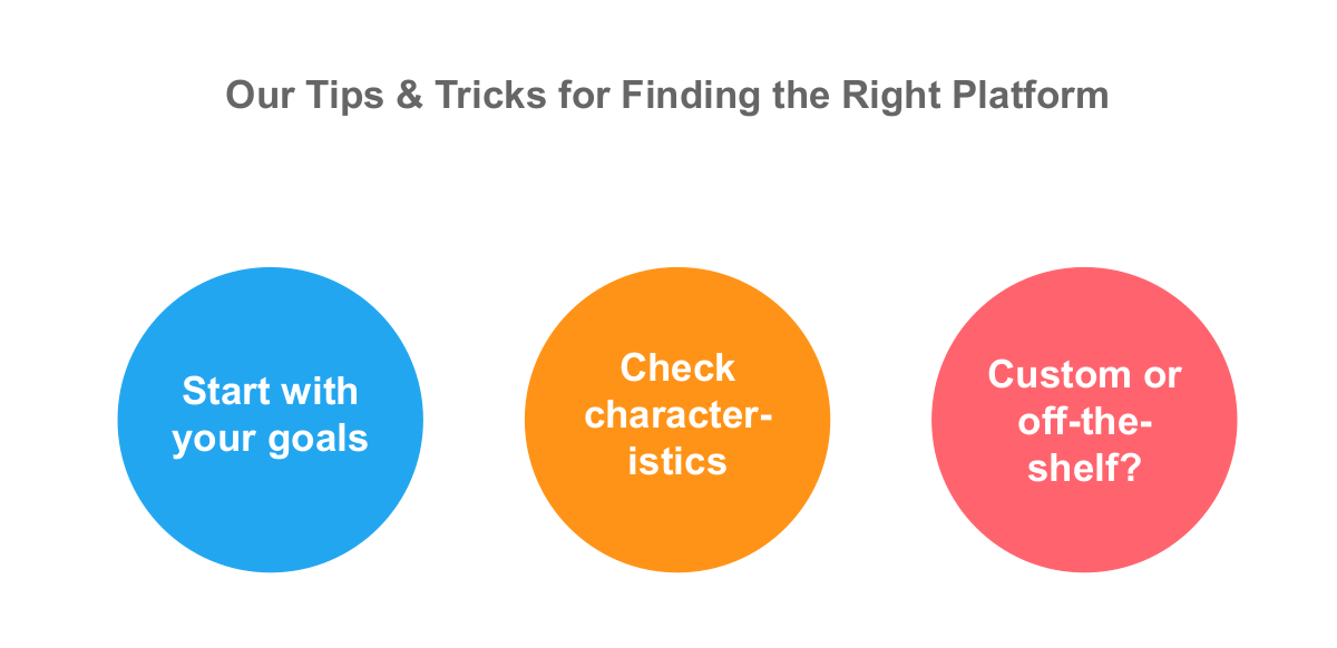 Tips and tricks for finding the right platform
