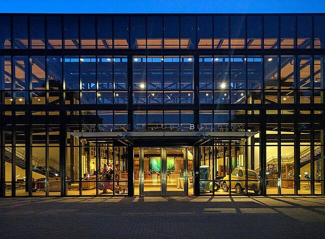 Steve Jobs building at Pixar Campus, image by Grendelkhan - Own work, CC BY-SA 3.0, https://commons.wikimedia.org/w/index.php?curid=50280583