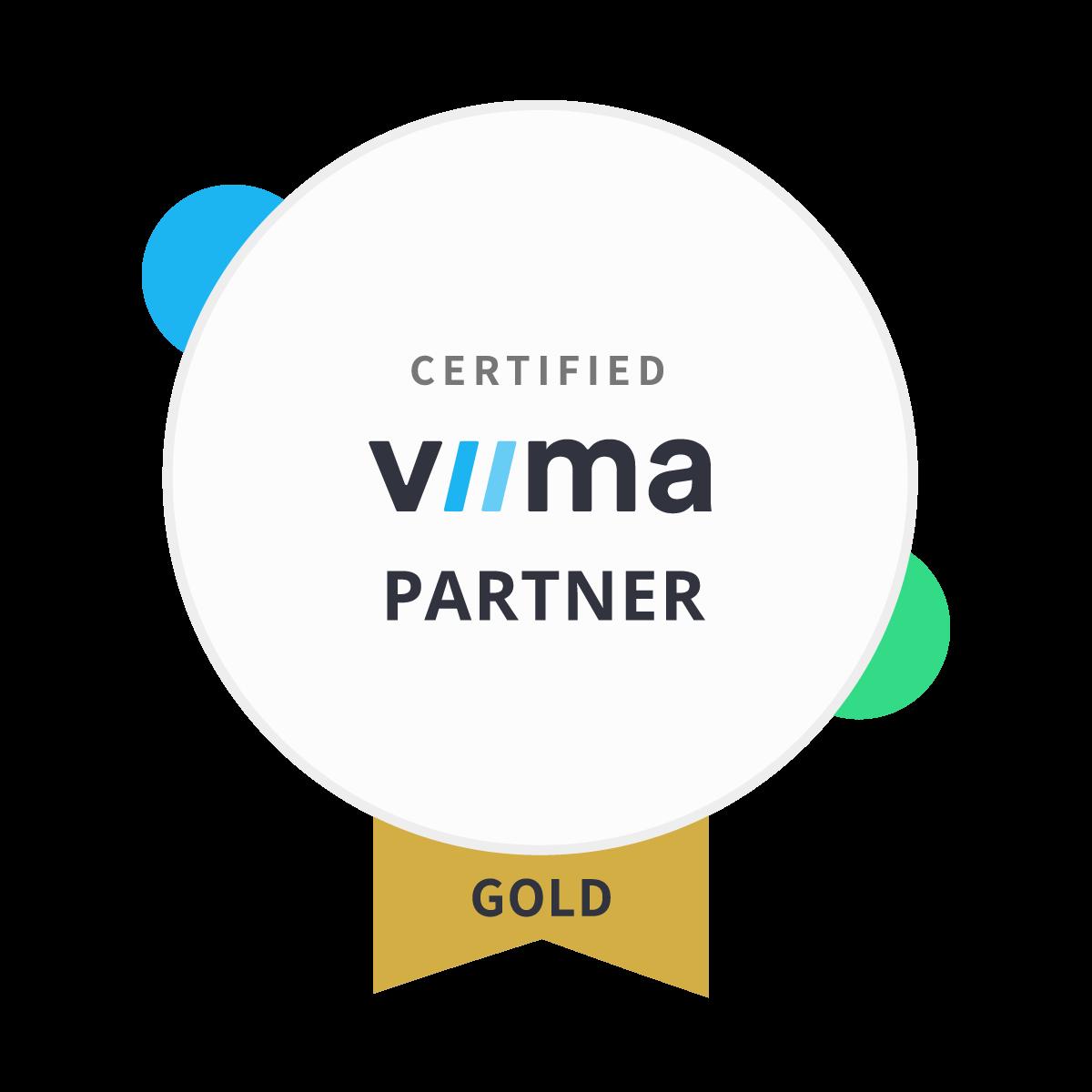 Certified Viima Gold Partner Badge